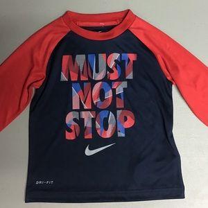 Nike tee MUST NOT STOP